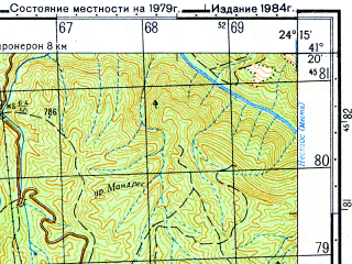 Reduced fragment of topographic map ru--gs--050k--k35-097-1--N041-20_E024-00--N041-10_E024-15