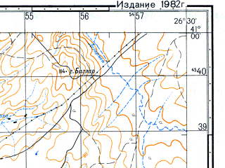 Reduced fragment of topographic map ru--gs--050k--k35-113-2--N041-00_E026-15--N040-50_E026-30; towns and cities Ipsala, Peplos