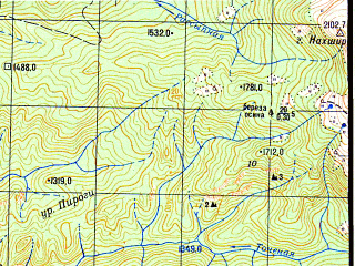 Reduced fragment of topographic map ru--gs--050k--k37-010-4--N043-50_E040-45--N043-40_E041-00
