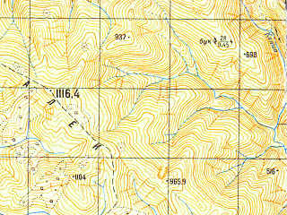 Reduced fragment of topographic map ru--gs--050k--k37-020-2--N043-40_E039-45--N043-30_E040-00; towns and cities Kalinovoye Ozero