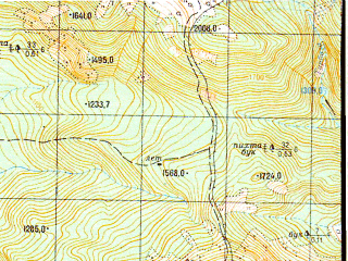 Reduced fragment of topographic map ru--gs--050k--k37-021-4--N043-30_E040-15--N043-20_E040-30