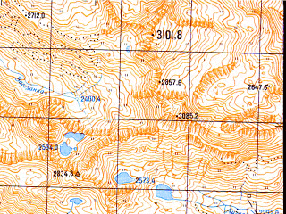Reduced fragment of topographic map ru--gs--050k--k37-022-2--N043-40_E040-45--N043-30_E041-00