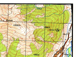 Reduced fragment of topographic map ru--gs--050k--k37-024-4--N043-30_E041-45--N043-20_E042-00