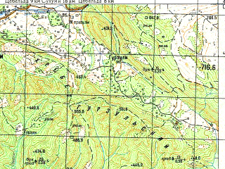 Reduced fragment of topographic map ru--gs--050k--k37-047-1--N043-00_E041-00--N042-50_E041-15; towns and cities Dranda, Agudzery, Nizhniy Gul'ripsh