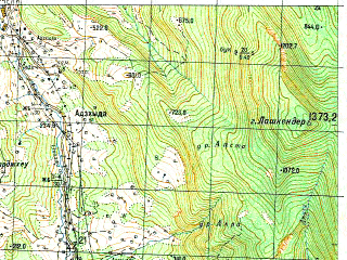 Reduced fragment of topographic map ru--gs--050k--k37-048-3--N042-50_E041-30--N042-40_E041-45