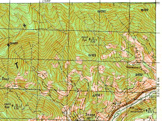 Reduced fragment of topographic map ru--gs--050k--k37-096-2--N041-40_E041-45--N041-30_E042-00; towns and cities Kveda-makhuntseti