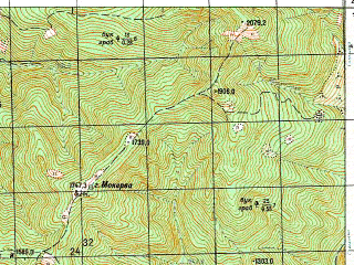 Reduced fragment of topographic map ru--gs--050k--k38-050-2--N042-40_E042-45--N042-30_E043-00