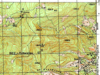 Reduced fragment of topographic map ru--gs--050k--k38-050-3--N042-30_E042-30--N042-20_E042-45
