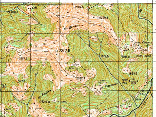 Reduced fragment of topographic map ru--gs--050k--k38-065-1--N042-20_E044-00--N042-10_E044-15
