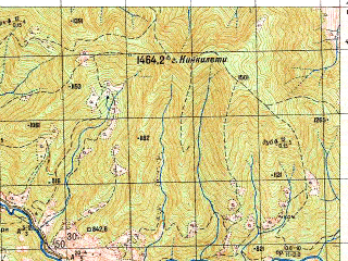 Reduced fragment of topographic map ru--gs--050k--k38-074-2--N042-00_E042-45--N041-50_E043-00