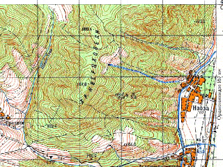 Reduced fragment of topographic map ru--gs--050k--k38-078-1--N042-00_E044-30--N041-50_E044-45; towns and cities Mtskheta, Mukhrani