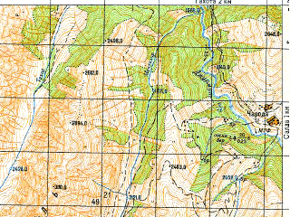 Reduced fragment of topographic map ru--gs--050k--k38-081-2--N042-00_E046-15--N041-50_E046-30