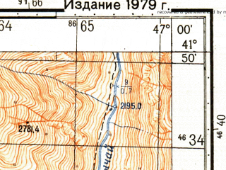Reduced fragment of topographic map ru--gs--050k--k38-082-4--N041-50_E046-45--N041-40_E047-00