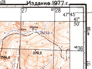 Reduced fragment of topographic map ru--gs--050k--k38-084-3--N041-50_E047-30--N041-40_E047-45