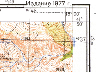 Reduced fragment of topographic map ru--gs--050k--k38-084-4--N041-50_E047-45--N041-40_E048-00