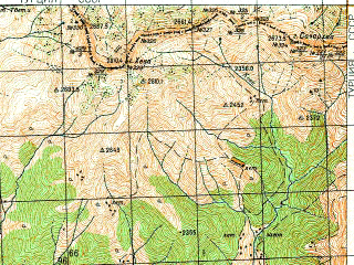 Reduced fragment of topographic map ru--gs--050k--k38-085-3--N041-30_E042-00--N041-20_E042-15