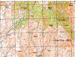 Reduced fragment of topographic map ru--gs--050k--k38-087-1--N041-40_E043-00--N041-30_E043-15