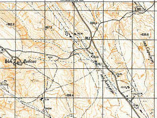 Reduced fragment of topographic map ru--gs--050k--k38-091-4--N041-30_E045-15--N041-20_E045-30
