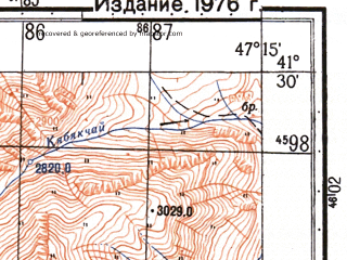 Reduced fragment of topographic map ru--gs--050k--k38-095-3--N041-30_E047-00--N041-20_E047-15
