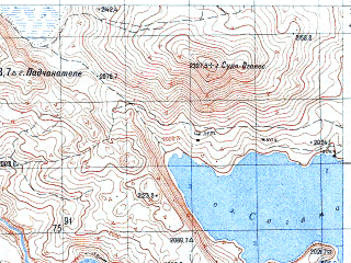 Reduced fragment of topographic map ru--gs--050k--k38-100-1--N041-20_E043-30--N041-10_E043-45; towns and cities Bogdanovka, Gorelovka