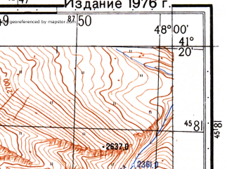 Reduced fragment of topographic map ru--gs--050k--k38-108-2--N041-20_E047-45--N041-10_E048-00