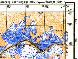 Reduced fragment of topographic map ru--gs--050k--k43-046-2--N043-00_E076-45--N042-50_E077-00