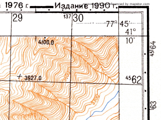 Reduced fragment of topographic map ru--gs--050k--k43-108-3--N041-10_E077-30--N041-00_E077-45
