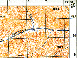 Reduced fragment of topographic map ru--gs--050k--k44-074-2--N042-00_E078-45--N041-50_E079-00