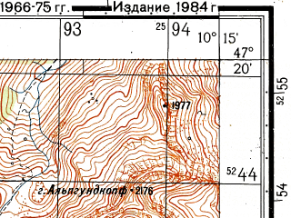 Reduced fragment of topographic map ru--gs--050k--l32-033-1--N047-20_E010-00--N047-10_E010-15; towns and cities Lech, Zurs