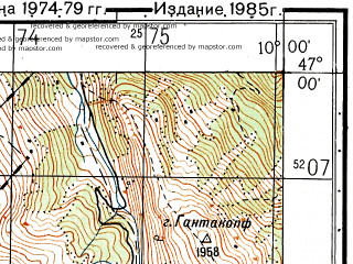 Reduced fragment of topographic map ru--gs--050k--l32-044-2--N047-00_E009-45--N046-50_E010-00; towns and cities Klosters Platz