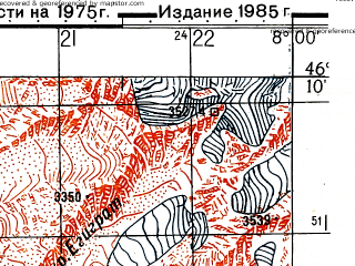 Reduced fragment of topographic map ru--gs--050k--l32-064-4--N046-10_E007-45--N046-00_E008-00