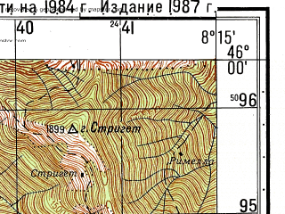 Reduced fragment of topographic map ru--gs--050k--l32-077-1--N046-00_E008-00--N045-50_E008-15