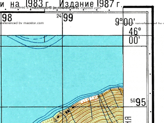 Reduced fragment of topographic map ru--gs--050k--l32-078-2--N046-00_E008-45--N045-50_E009-00; towns and cities Lugano, Luino