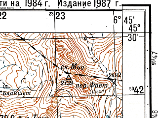 Reduced fragment of topographic map ru--gs--050k--l32-086-3--N045-30_E006-30--N045-20_E006-45