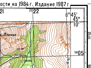 Reduced fragment of topographic map ru--gs--050k--l32-098-3--N045-10_E006-30--N045-00_E006-45; towns and cities Bardonecchia