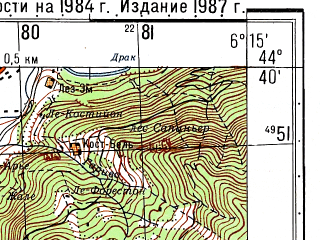 Reduced fragment of topographic map ru--gs--050k--l32-121-1--N044-40_E006-00--N044-30_E006-15; towns and cities Gap