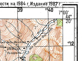 Reduced fragment of topographic map ru--gs--050k--l32-134-2--N044-20_E006-45--N044-10_E007-00