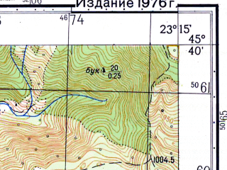 Reduced fragment of topographic map ru--gs--050k--l34-095-1--N045-40_E023-00--N045-30_E023-15