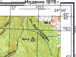 Reduced fragment of topographic map ru--gs--050k--l34-096-2--N045-40_E023-45--N045-30_E024-00