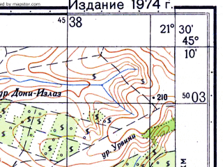 Reduced fragment of topographic map ru--gs--050k--l34-103-4--N045-10_E021-15--N045-00_E021-30; towns and cities Vrsac