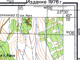 Reduced fragment of topographic map ru--gs--050k--l34-107-4--N045-10_E023-15--N045-00_E023-30; towns and cities Tirgu Jiu