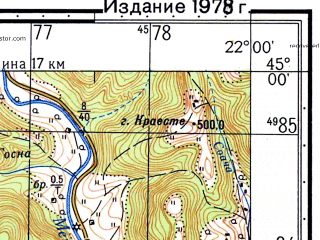 Reduced fragment of topographic map ru--gs--050k--l34-116-2--N045-00_E021-45--N044-50_E022-00