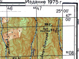 Reduced fragment of topographic map ru--gs--050k--l35-038-2--N047-00_E024-45--N046-50_E025-00