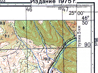 Reduced fragment of topographic map ru--gs--050k--l35-038-4--N046-50_E024-45--N046-40_E025-00