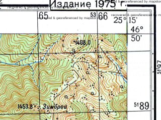Reduced fragment of topographic map ru--gs--050k--l35-039-3--N046-50_E025-00--N046-40_E025-15; towns and cities Lapusna
