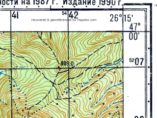 Reduced fragment of topographic map ru--gs--050k--l35-041-1--N047-00_E026-00--N046-50_E026-15; towns and cities Bicaz
