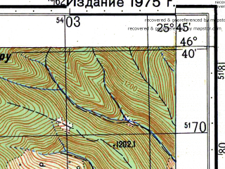 Reduced fragment of topographic map ru--gs--050k--l35-052-1--N046-40_E025-30--N046-30_E025-45