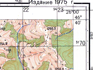 Reduced fragment of topographic map ru--gs--050k--l35-052-2--N046-40_E025-45--N046-30_E026-00