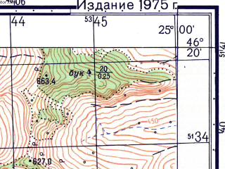 Reduced fragment of topographic map ru--gs--050k--l35-062-2--N046-20_E024-45--N046-10_E025-00; towns and cities Sighisoara