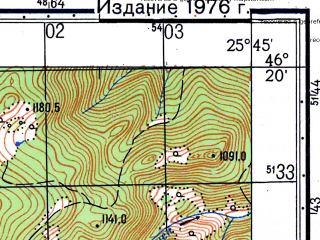 Reduced fragment of topographic map ru--gs--050k--l35-064-1--N046-20_E025-30--N046-10_E025-45